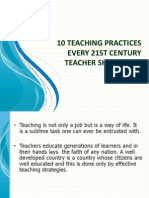 10 Teaching Practices Every 21st Century Teacher Should