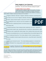 Faculty Handout - Sample Syllabus Language