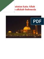 Pencatutan Kata Allah Dalam Alkitab Indonesia