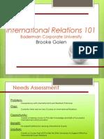 instructional plan - international relations - part iii