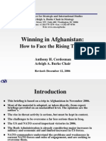 Wining in Afghanistan How to Face the Rising Threat