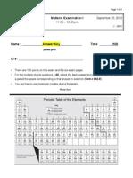 Midterm I Key Chem 2312-003 F '12
