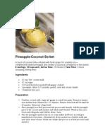 Pineapple Coconut Sorbet