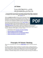 Principles of Islamic Banking