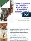 Under-utilization of Community Health Centers