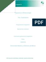 Informacion General de La Asignatura