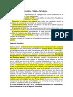 CAUSA DE LA PÉRDIDA DE LA SEGUNDA REPUBLICA