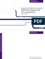 APC Requirements and Competencies