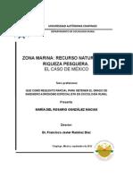 Tesis Zona Marina y Pesca