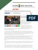 California Teachers Suing to End Mandatory Union Dues _ Washington Free Beacon