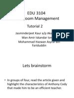 Tutorial Group Work