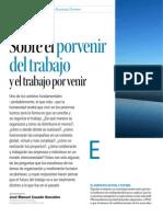 Sobre el porvenir del trabajo y el trabajo por venir - Harvard Deusto Business Review - Enero 2014