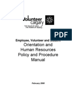 Volunteer Centre HR Policy Manual