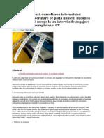 Cum influenţează dezvoltarea internetului procesele de recrutare pe piaţa muncii