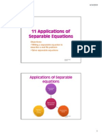 11 Applications of Separable Equations
