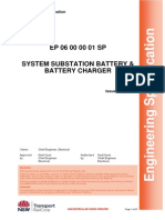 System Substation Battery & Battery Charger