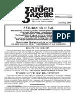 Shades of Green Garden Gazette - October 2009