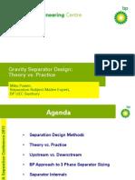 Gravity sep design