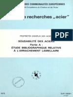 EP - Etude Biblio Sur l'Arrachement Lamellaire