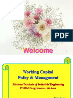 Working Capital Management - PGDBM, NITIE - December 2007