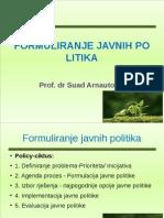 Formuliranje Javnih Politika