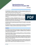 Benchmarking de las Microfinanzas en Ecuador 2006