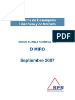 Informe Desempeño DMIRO Sep07