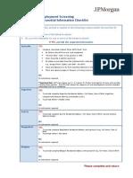 Extra Jurisdiction - Essential Information Checklist OCT2013
