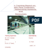 Summer Training Report on Automatic Fare Collection System