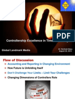 Controllership Excellence in Times of Change - GLM, August, 2013