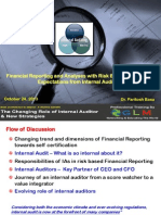 Financial Analysis and Reporting - Expectations From Internal Auditors, GLM, October 2013