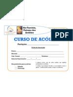 Ficha de inscrição - acólitos
