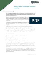 Postgrado en Branded Content, Marketing de contenidos y Transmedia Storytelling