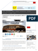 Legislations Enacted_ Amended in 2013_ a Snapshot _ Live Law