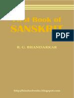 First Book of Sanskrit - RG Bhandarkar
