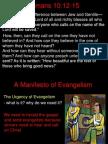 A Manifesto of Evangelism