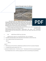Geological Strength Index for Mining