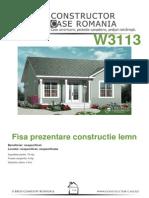Fisa de Prezentare Lemn - Antecalculatie W3113[Nespecificat,Nespecificat,Nespecificata][Www.planuri-casa.ro] - Orientare Normala