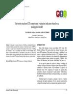 2011_University Teachers ICT Competence Evaluation Indicators Based on a Pedagogical Model