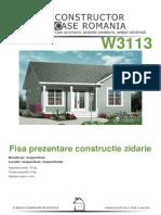 Fisa de Prezentare Zidarie - Antecalculatie W3113[Nespecificat,Nespecificat,Nespecificata][Www.planuri-casa.ro] - Orientare Normala