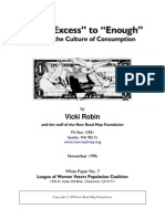 (Consumer) From 'Excess' to 'Enough' - Shifting the Culture of Consumption