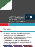 Criterios Diagnosticos de Diabetes y Complicaciones