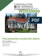 Fisa de Prezentare Zidarie - Antecalculatie WD030080[Nespecificat,Nespecificat,Nespecificata][Www.planuri-casa.ro] - Orientare Normala