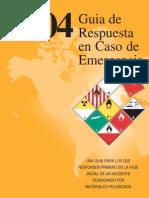 Guia de Respuesta a Emergencias 2004