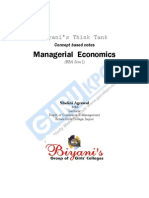 Managerial Economics Notes