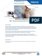 CBP Business Communication Certification