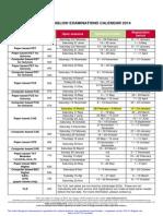 British Council Romania Cambridge English Examinations Dates and Fees 2014
