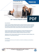 CBP Business Etiquette Certification