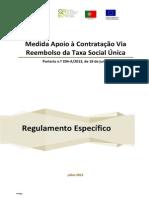 Regulamento Apoio Contratacao via Reembolso TSU