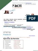 Curso gratis de Francés A1 - Ejercicios de Revisión -soluciones